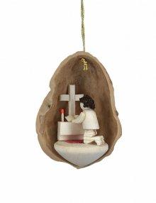 Tree Ornaments Prayer in Walnut Shell