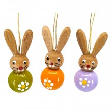 Colorful rabbit hangings