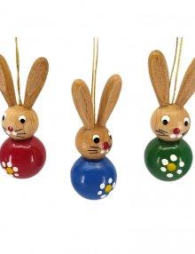 Colorful rabbit hangings