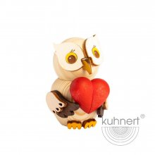 Mini owl with a heart