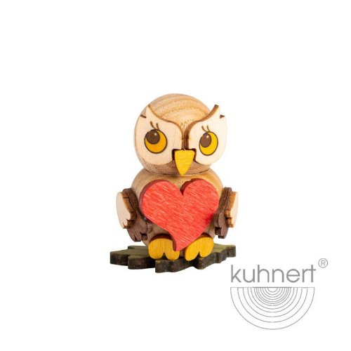 Owl child with a heart