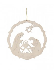 Erzgebirge tree curtain of the birth of Christ, natural