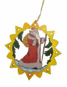 Erzgebirge tree hangings Santa Claus, colored