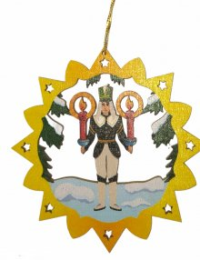 Ore Mountain tree curtain miner, colored