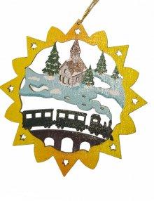 Erzgebirge tree curtain railroad, colored