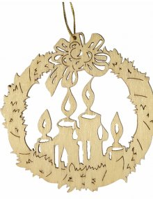 Erzgebirge tree curtain Advent candle, natural