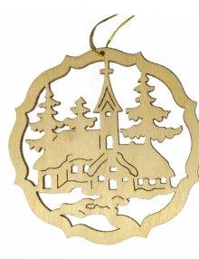 Erzgebirge tree curtain church, natural