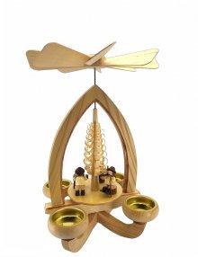 Tealight pyramid wood chopper