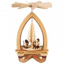 Candle pyramid wood chopper