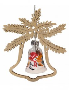 Tree hanging, glass ball snowman, in the bell
