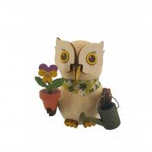 Wooden figure mini owl gardener