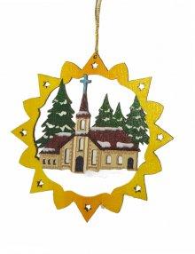 Erzgebirge tree curtain church, colored