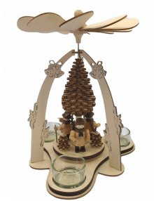 Tealight pyramid forest figures