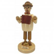 Smoking man accordion player