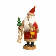Smoker Santa Claus red with gifts