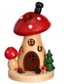 Incense figure mushroom house toadstool round and flat