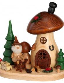 Incense figure mushroom house sawhorse