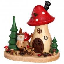 Incense figure mushroom house wheelbarrow