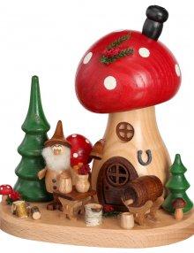 Incense figurine mushroom house mushroom tavern
