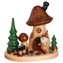 Incense figurine mushroom house treasure collector