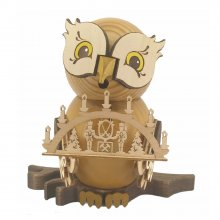 Incense figurine owl with candle arch