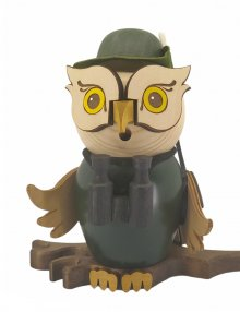 Incense burner owl hunter