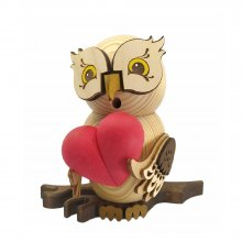 Incense figurine owl with heart