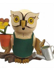 Incense figurine owl gardener
