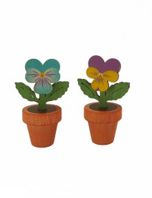 Accessories for smoking owls and stupsis, pansies 2-piece small