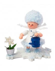Snow Maiden with watering can