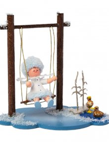 Snow Maiden with a swing