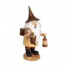 Smoker mountain gnome with bucket / bracket, natural