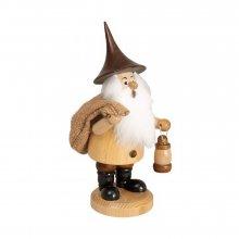 Smoker mountain gnome with bag, natural