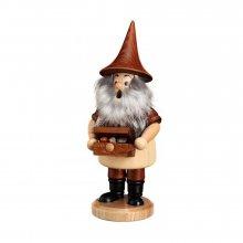 Smoker mountain gnome with treasure chest