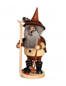 Smoker forest gnome skier