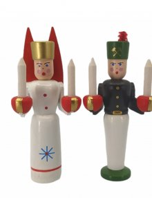 Angel and miner figures, small