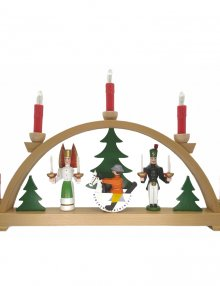 Light Arch angel and miner with red candles, electric