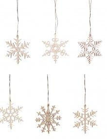Tree curtain snow crystals 6 pieces.
