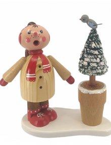 Incense figurine winter child Tina