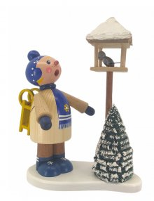 Incense figurine winter child Tim