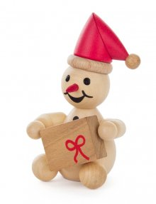 Snowman junior with red cap
