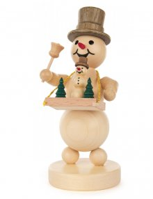 Snowman with a tray