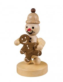Snowman Junior with gingerbread man