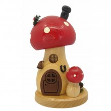 Incense figure mushroom house toadstool round and high
