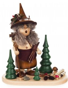 Incense smoker forest imp woman with wooden box