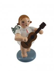 Angel with guitar, no crown, standing