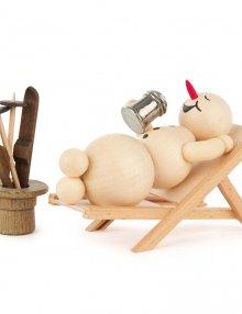 Snowman in a deck chair