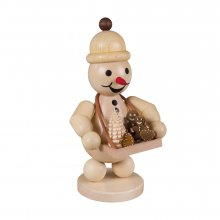 Snowman Junior with a tray