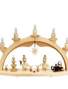 Light arch junior with bird, sledge basket and star