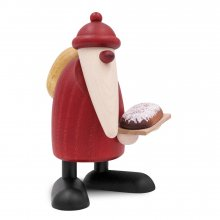 Santa Claus with Christmas stollen